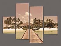 Модульная картина Пальмы 120*93 см