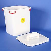 Контейнер для СВЧ-обеззараживания медицинских отходов.