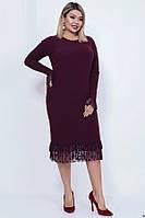 Нарядное женское платье из ангоры 43043 (48–54р) в расцветках, фото 1