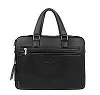 Портфель-сумка кожаная для документов, папка черная Giorgio Armani 6619-3, фото 1