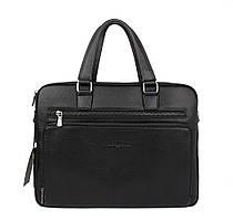 Портфель-сумка кожаная для документов, папка черная Giorgio Armani 6619-3