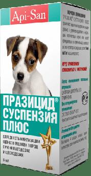 Празицид суспензия Плюс препарат от глистов для щенков мелких пород 6 мл