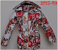 Курточка з сучасним принтом для дівчинки