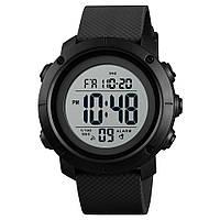 Skmei 1426 черные с белым циферблатом мужские спортивные часы, фото 1