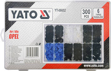 Набор автомобильного крепежа для Opel YATO YT-06652, фото 2