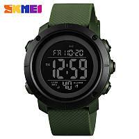 Skmei 1426 зеленые с черным циферблатом мужские спортивные часы, фото 1
