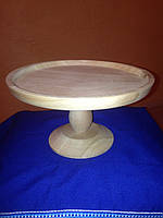 Тарелка под роспись на подставке , черешня, диаметр 24 см