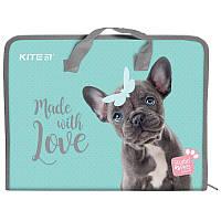 Пластиковый Портфель A4 Kite Studio Pets для школьных принадлежностей на молнии (SP19-202)
