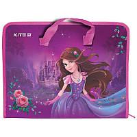 Пластиковый Портфель Kite Princess A4 для школьных принадлежностей на молнии (K19-202-01)