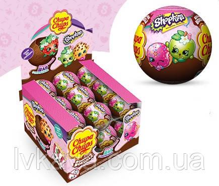 Шоколадный шар Shopkins Chupa Chups с сюрпризом , 20 g X 18 шт, фото 2
