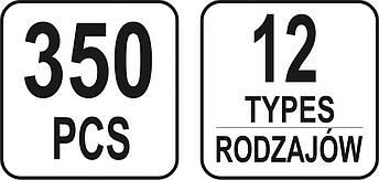 Набор автомобильного крепежа для Volvo YATO YT-06655, фото 3