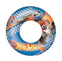 Детский надувной круг для плавания Bestway 93401 «Хот Вилс», 56 см