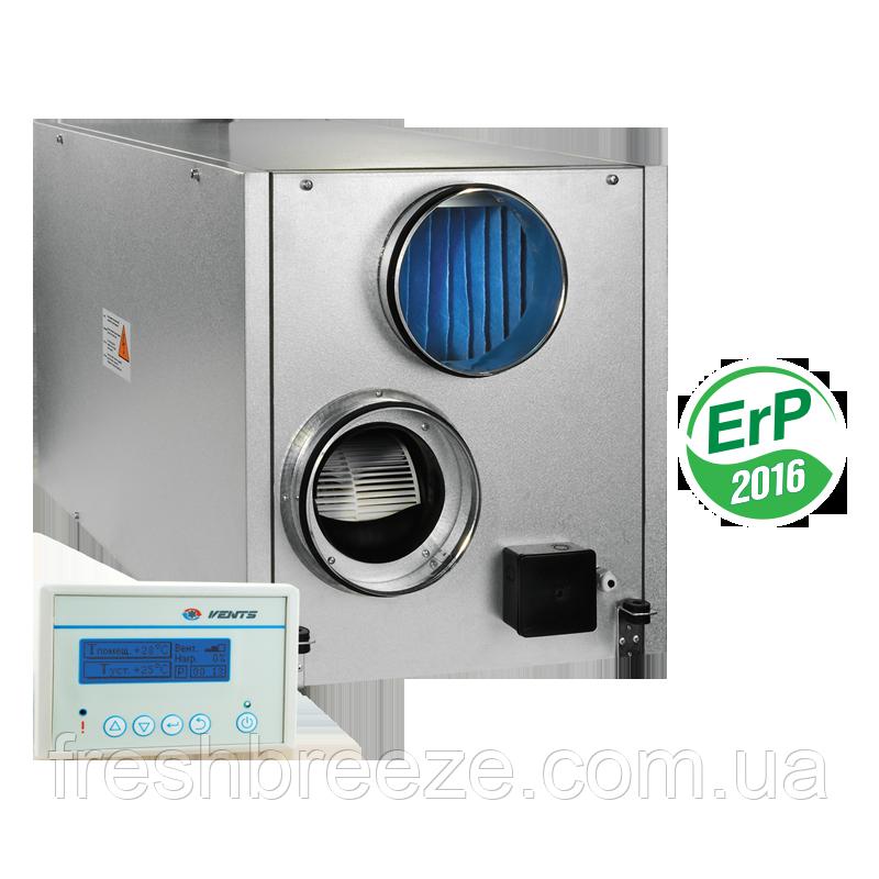 Приточно-вытяжная установка с рекуперацией тепла Vents ВУТ 1000 ЭГ