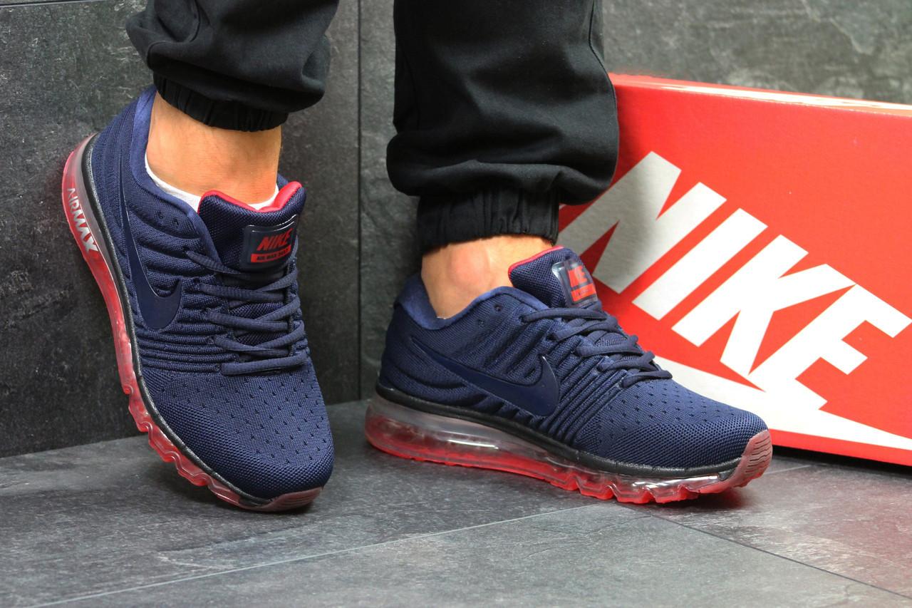 adc0de47 Темно-синие. Кроссовки мужские в стиле Nike Air Max 2017, сетка, текстиль  код SD-7070