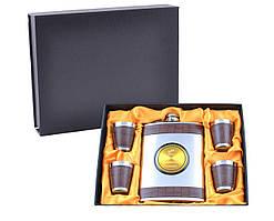 Подарочный набор с флягой Hennessy (Кожа)