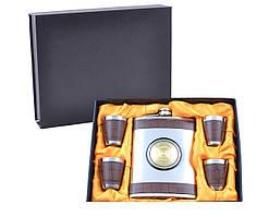 Подарочный набор с флягой Jack Daniel (Кожа)