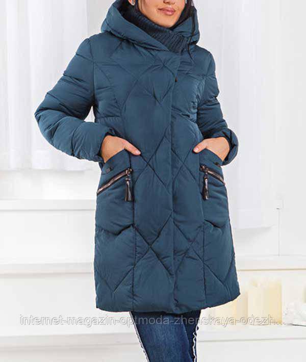Стильная зимняя куртка больших размеров