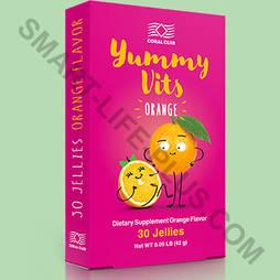 Жевательные витамины Yummy Vits (Ямми Витс) - детские витамины со вкусом апельсина, поднимающие иммунитет.