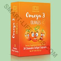 Высококачественный рыбий жир со вкусом апельсина для детей и взрослых-Омега 3 апельсина ( Omega 3 oranges)