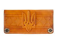 Кошелек, бумажник, портмоне Gato Negro Ukraine Yellow ручной работы