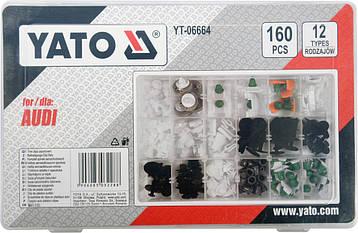 Набор автомобильного крепежа для Audi YATO YT-06664, фото 2