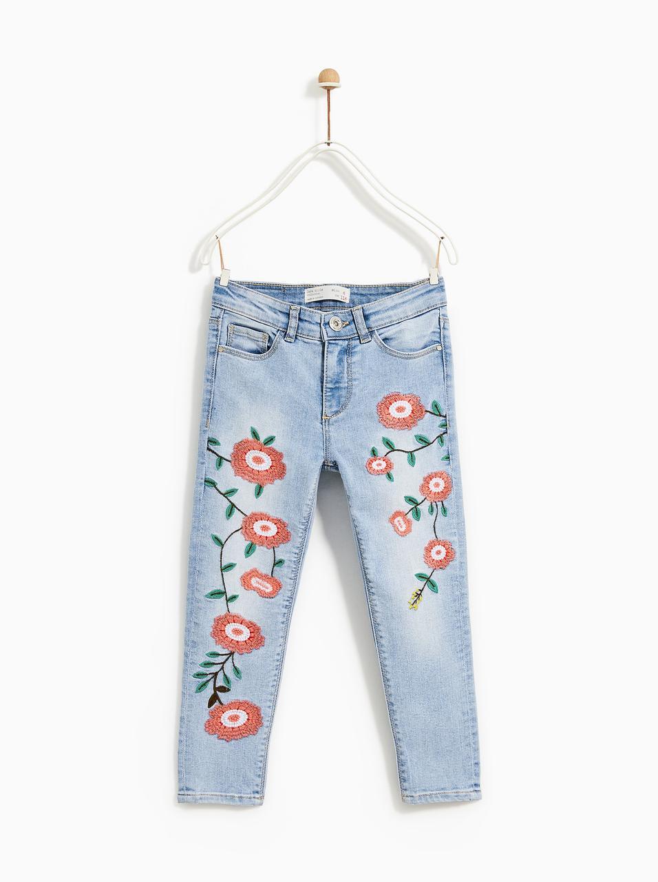 Джинсы детские Zara размер 13-14 на 164 см скини для девочек