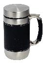 Термокружка Tramp TRC-046 (0,450 л), сталевий, в шкіряній обробці, фото 2