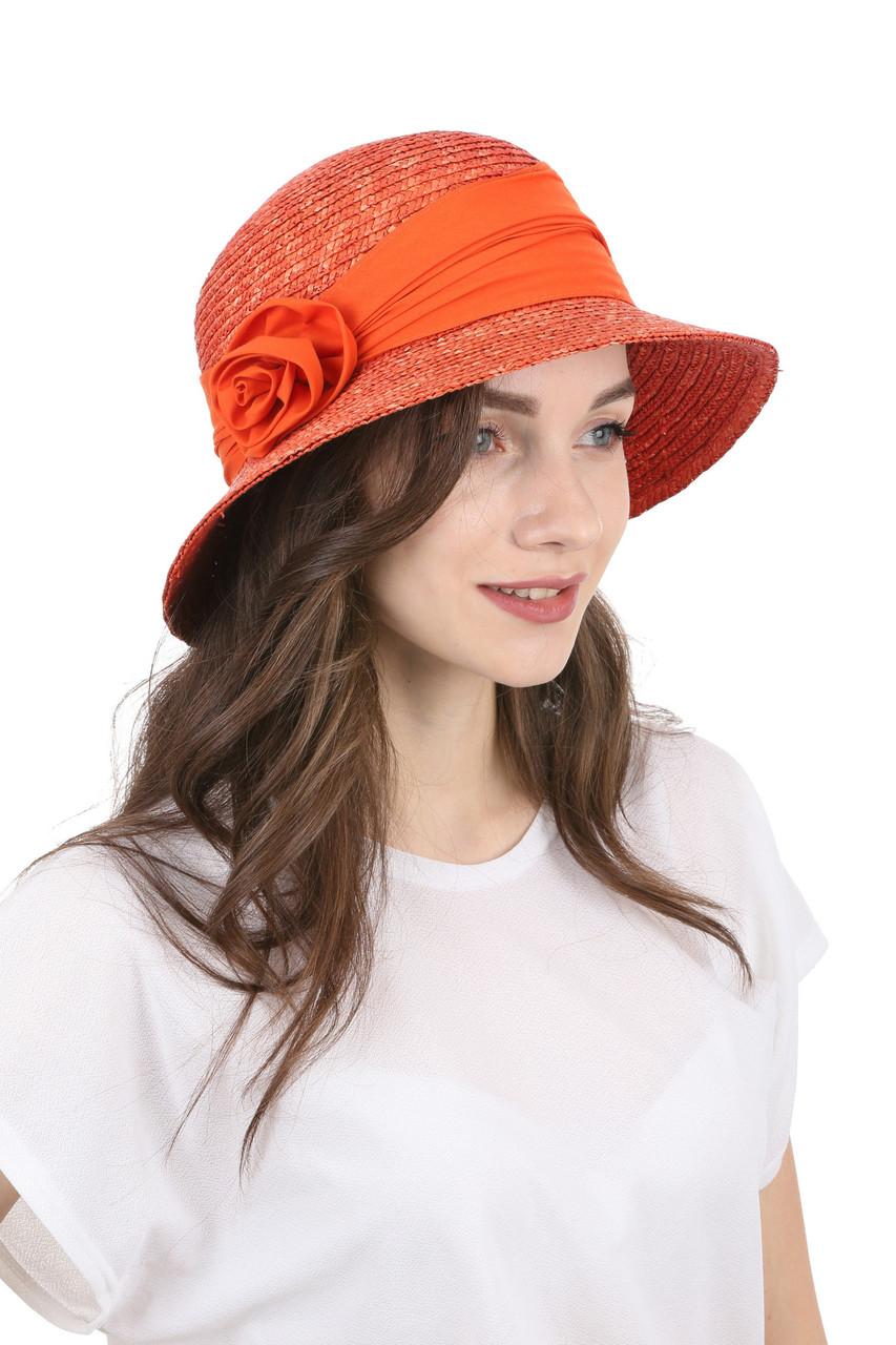 Шляпа соломенная классическая красная