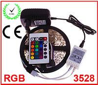 Лента светодиодная RGB 3528 IP33 - полный комплект , фото 1