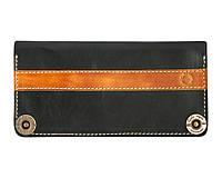 Кошелек, бумажник, портмоне мужской Gato Negro Alfa-P Black ручной работы