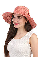 Шляпа женская из натуральной соломы с большими полями