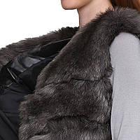 Модная женская жилетка с меховая