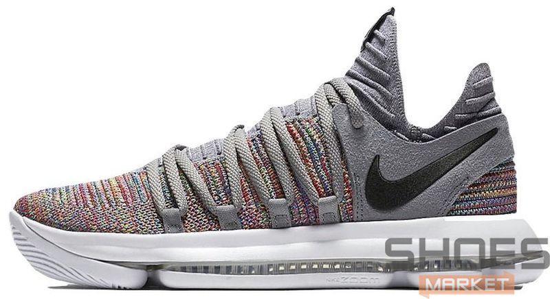 bc904f130b59 Баскетбольные Кроссовки Nike KD 10 Multicolor   Black-Cool Grey-White — в  Категории