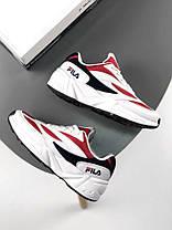 Мужские кроссовки Fila Venom Low 1010255-150 White/Red, Фила веном, фото 2