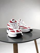 Мужские кроссовки Fila Venom Low 1010255-150 White/Red, Фила веном, фото 3