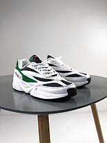 Женские кроссовки Fila Venom Low 1010255-00Q White/Green, Фила веном, фото 2