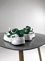 Мужские кроссовки Fila Venom Low 1010255-00Q White/Green, Фила веном, фото 3