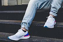 """Мужские кроссовки Nike Epic React Flyknit """"White & Racer Blue"""" AQ0067-101, Найк Эпик Реакт Флайнит, фото 2"""