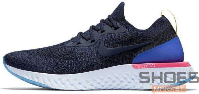 Женские кроссовки Nike Epic React Flyknit AQ0067-400, Найк Эпик Реакт Флайнит