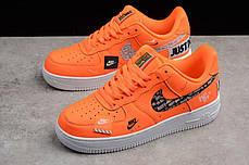 Мужские кроссовки Nike Air Force 1 07 Just Do It Pack Orange AR7719-800, Найк Аир Форс, фото 2