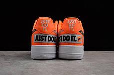 Мужские кроссовки Nike Air Force 1 07 Just Do It Pack Orange AR7719-800, Найк Аир Форс, фото 3