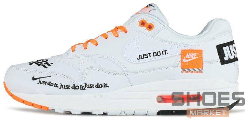 """ec1d8f28 Мужские Кроссовки Nike Air Max 1 """"Just Do It"""" White — в Категории ..."""