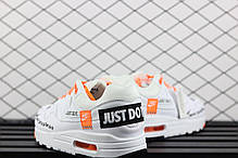 Мужские кроссовки Nike Air Max 1 SE White Total Orange 'Just Do it' AO1021-100, Найк Аир Макс 1, фото 2
