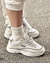 Женские кроссовки Fila Ray FS1SIA11-65X White/Grey, Фила Рей, фото 3