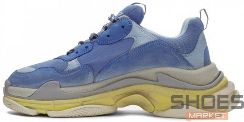 08e4ebce98cb Женские кроссовки Balenciaga Triple S Blue Yellow купить в интернет ...