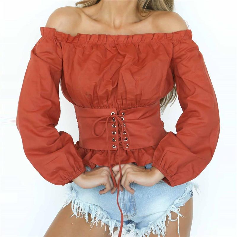 Женская блуза корсет
