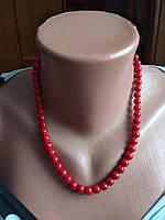Ожерелье из натурального камня,красный коралл.