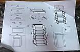 Гардероб текстильний для одягу Home GDX-2210A 1500х600х460 мм сірий, фото 8