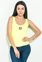 Майка женская, однотонная 72P164 (Лимон неон)