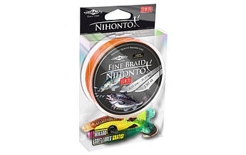 Плетеный шнур Mikado NIHONTO FINE BRAID 150 м  оранжевый + подарок силикон 5 шт!